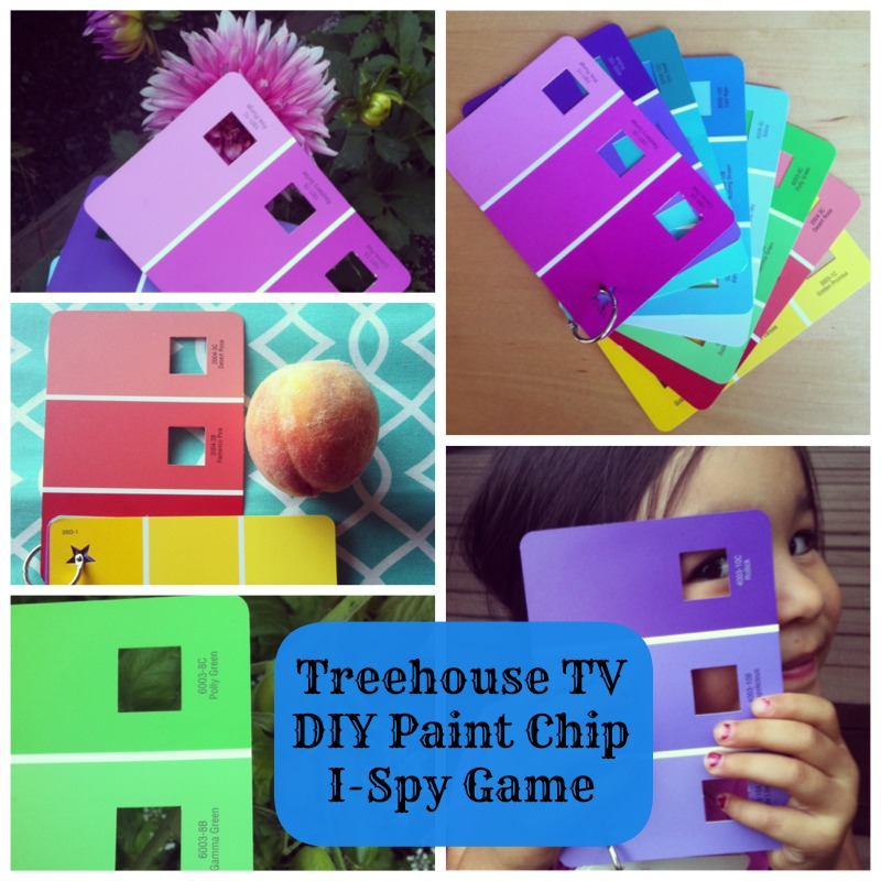 Treehouse TV DIY Paint Chip I-Spy Game