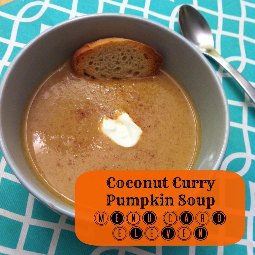 Coconut Curry Pumpkin Soup Recipe Menu Card 11
