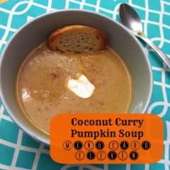 Curried Coconut Pumpkin Soup Recipe- Menu Card 11