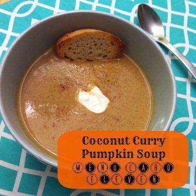 Curried Coconut Pumpkin Soup Recipe- Menu Card 11