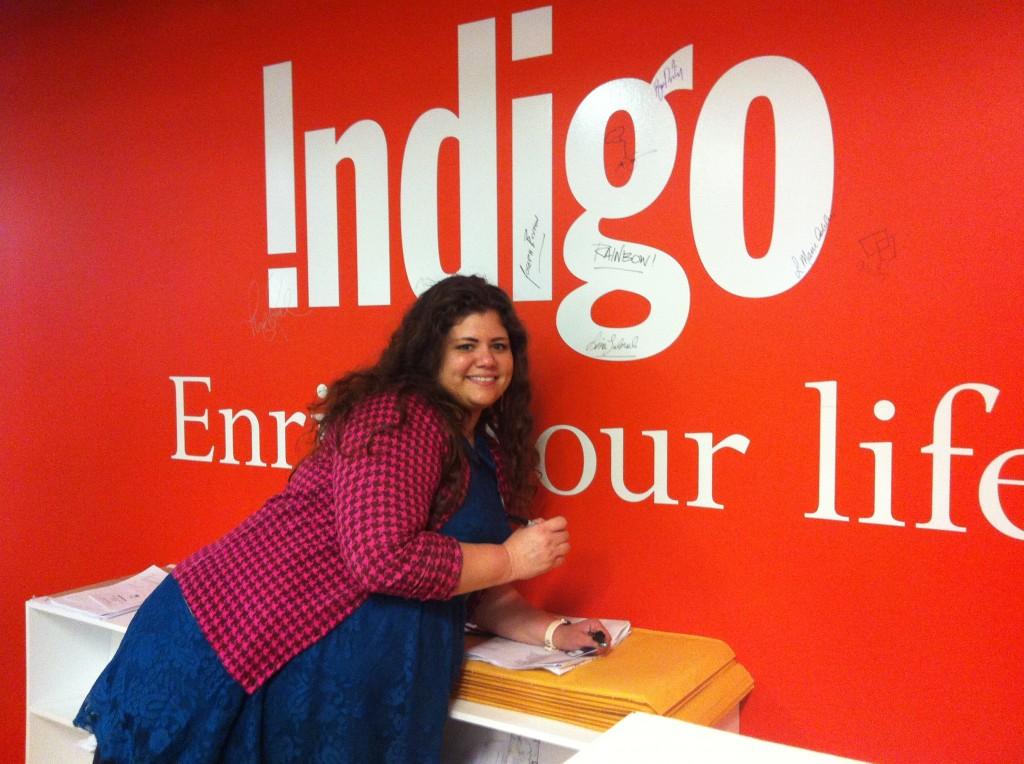 Indigo author wall