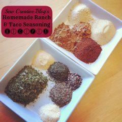 Homemade Ranch and Taco Seasoning Recipes