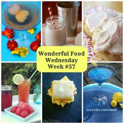 Wonderful Food Wednesday Link Party- Week #57