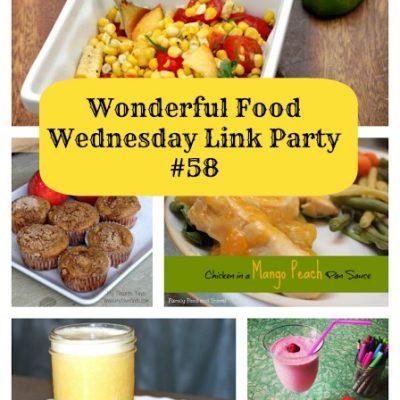 Wonderful Food Wednesday Link Party Week #58