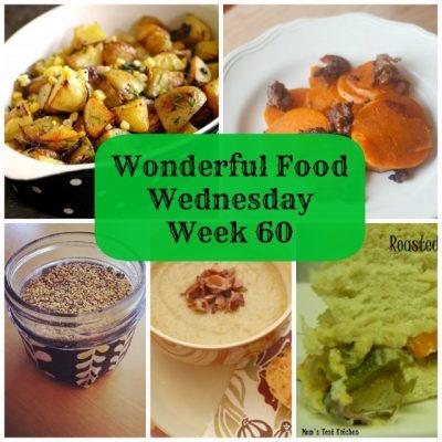 Wonderful Food Wednesday Link Party- Week 60