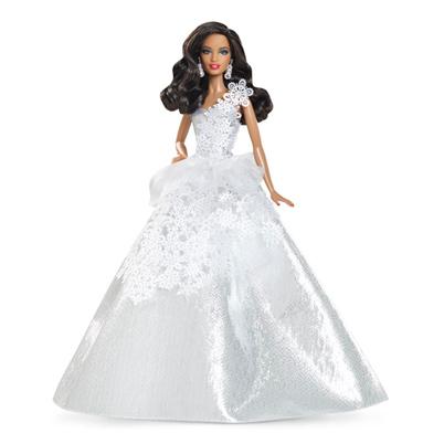 2013 Brunette Holiday Barbie from Mattel
