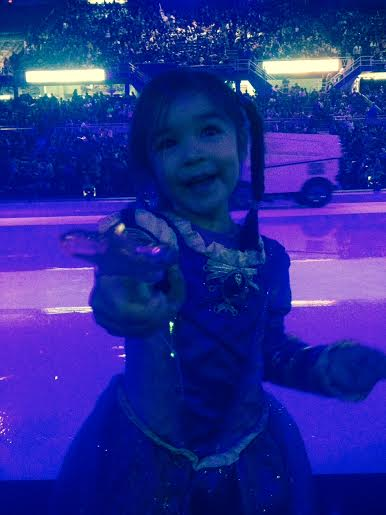 Bean and Zamboni at Disney on Ice