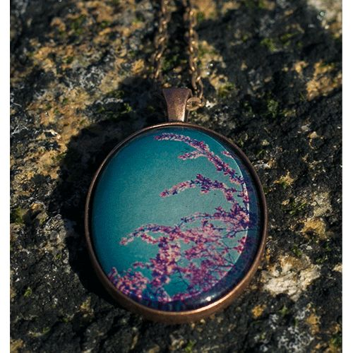 Cherry Blossom Oval Necklace MyUrbanware