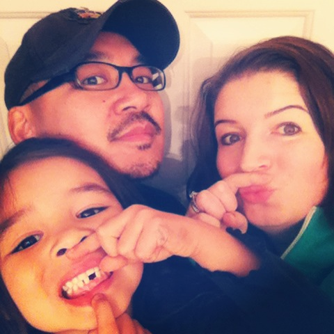 Movember Day 17- Bean and I have Mo's too! AND Bean lost her first tooth!!!