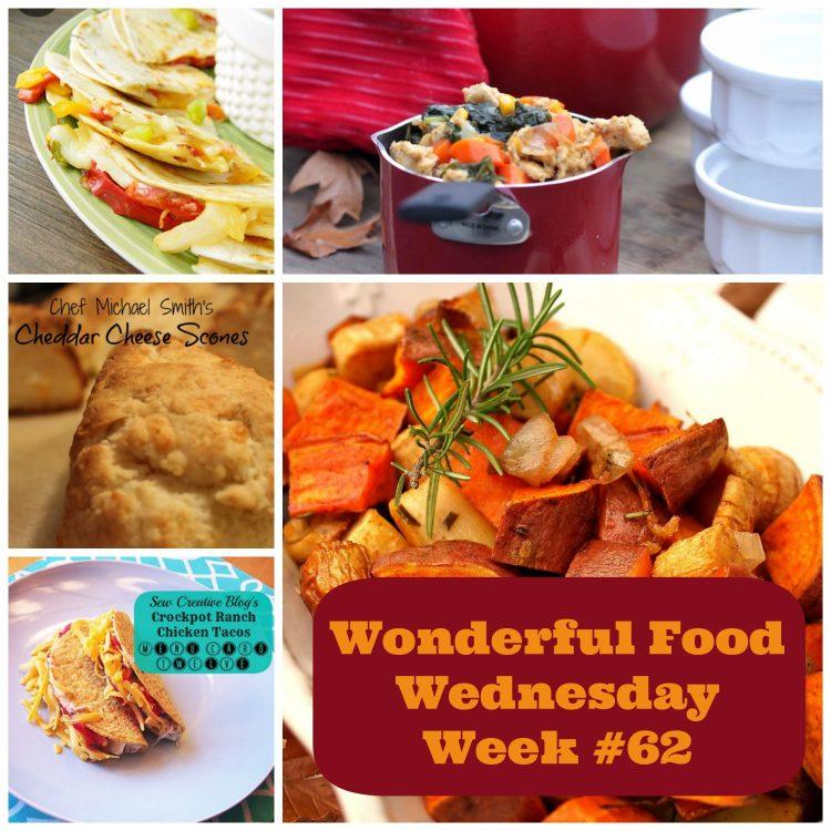 Wonderful Food Wednesday Link Party- Week 62