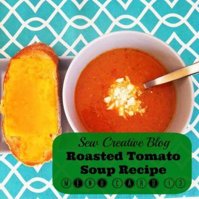 Roasted Tomato Soup Recipe- Menu Card 13
