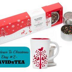 Countdown To Christmas Day 2- @DAVIDsTEA (Gifts for Foodies)