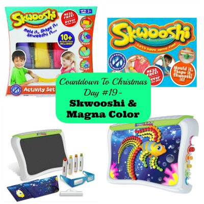 Countdown to Christmas Day 18- Gifts for Artistic Kids from Skwooshi and Magna Color