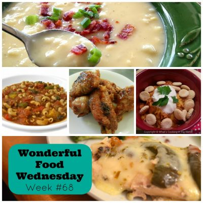 Food and Recipe Link Party with Wonderful Food Wednesday Week #68
