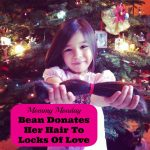 Mommy Monday at Sew Creative 5 year old donates hair to Locks of Love