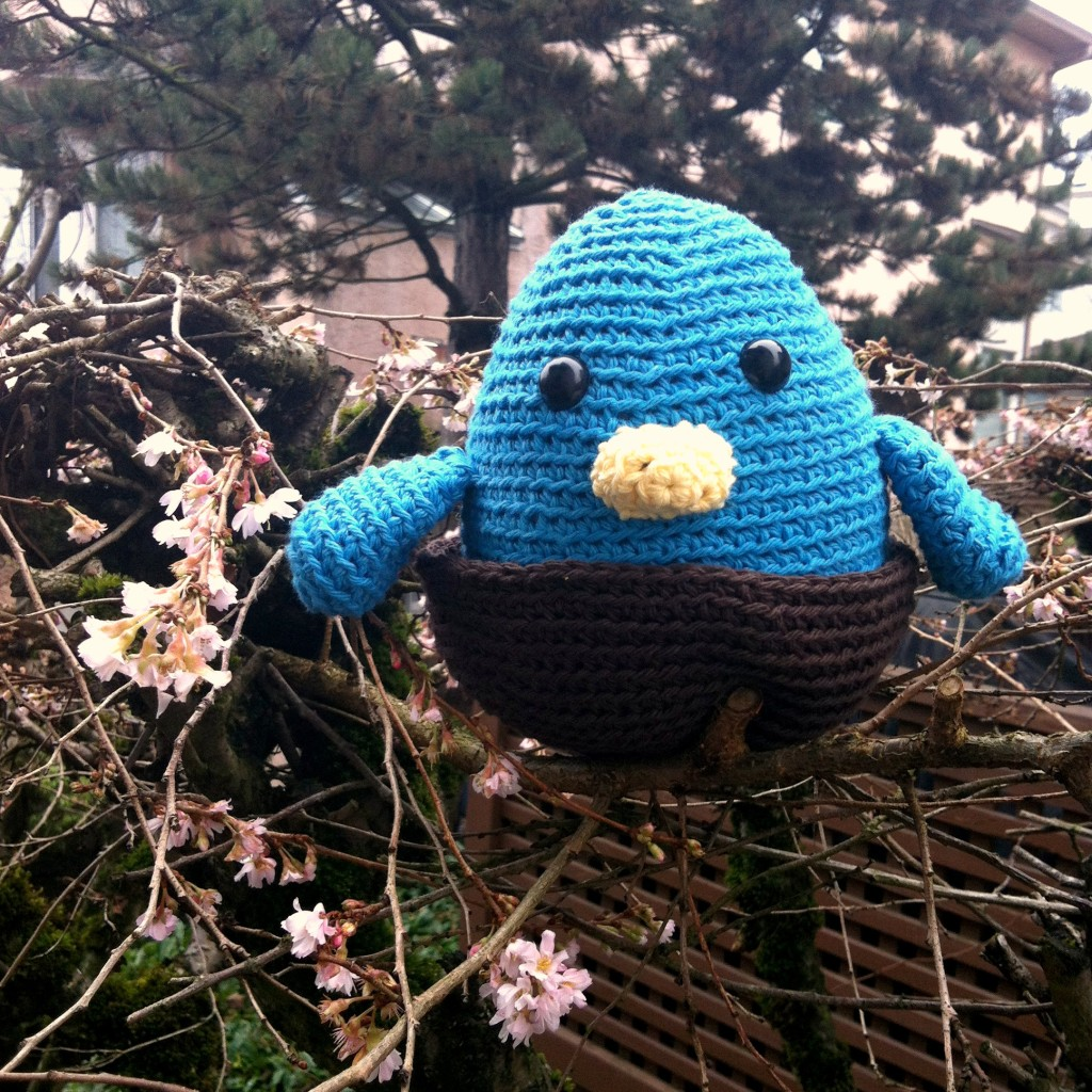 Sew Creative Blog's Blue Bird in Nest Amigurumi 1