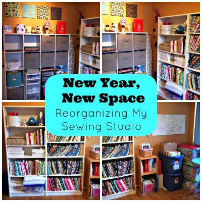 New Year, New Space. Reorganizing my Sewing Studio