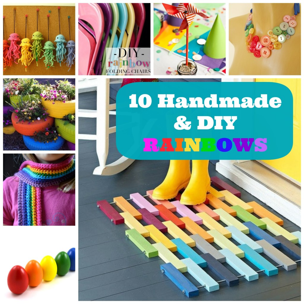 Seriously... can you look at something rainbow colored and not smile? Rainbow's make everyone's days so much happier! Here are 10 Handmade and DIY Rainbow Projects and Crafts to Brighten Your Weekend!