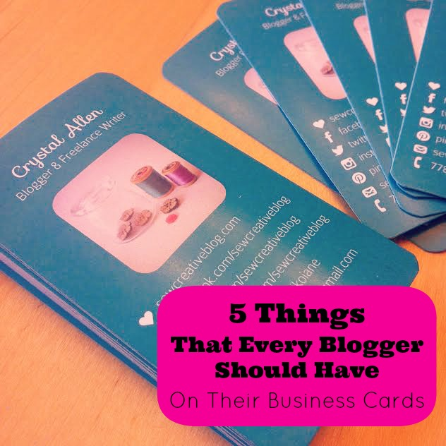 5 things every blogger should have on their business cards for Business cards for bloggers