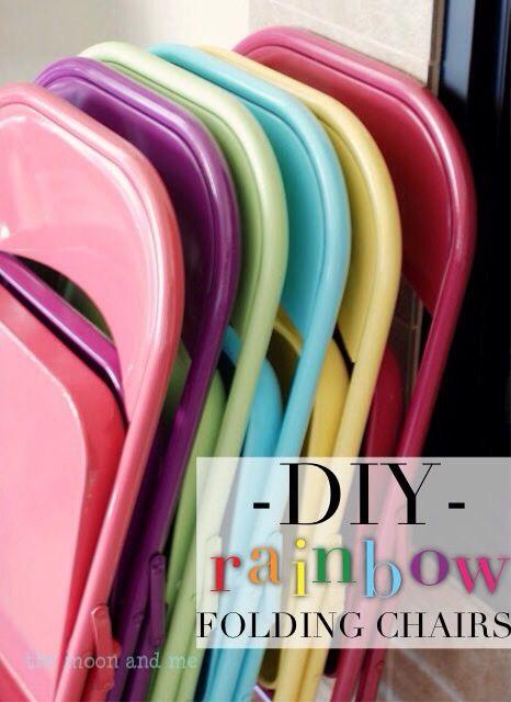 DIY Rainbow Folding Chairs