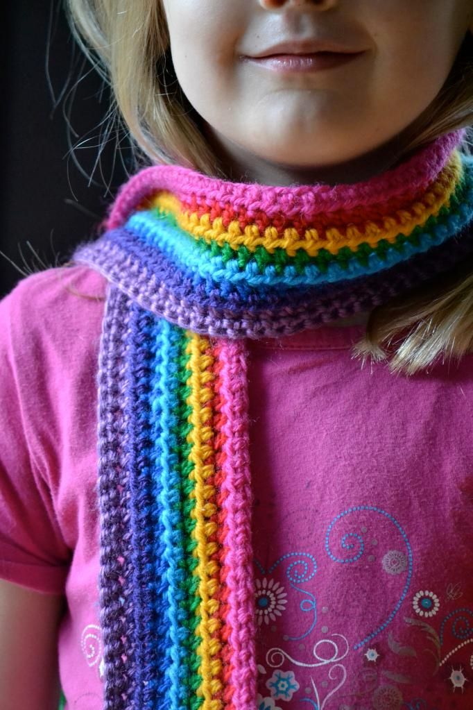 DIY Rainbow Scarf Crochet Pattern