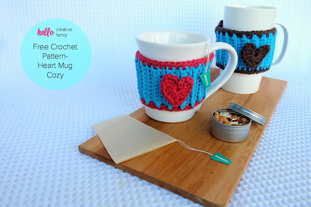 Crochet Heart Mug Cozy Pattern Perfect For Your Favorite Tea Or