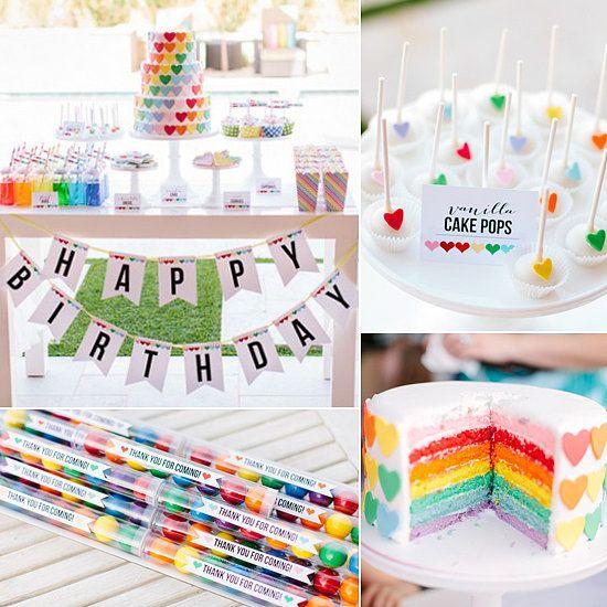 Heart and Rainbows Birthday Party