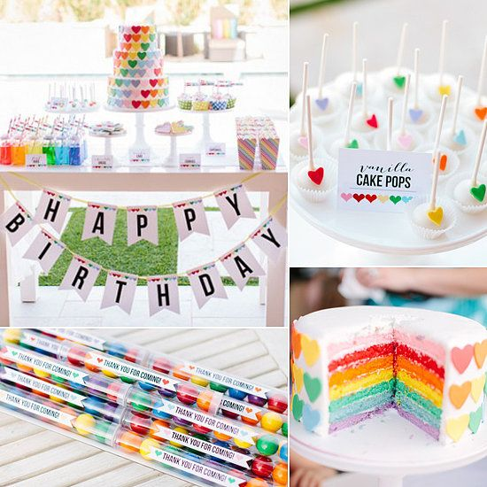 Heart and Rainbows Birthday Party