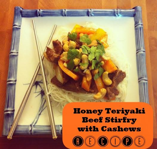 Honey Teriyaki Beef Stirfry with Cashews Recipe- Menu Card 14 #BlueDragonMom