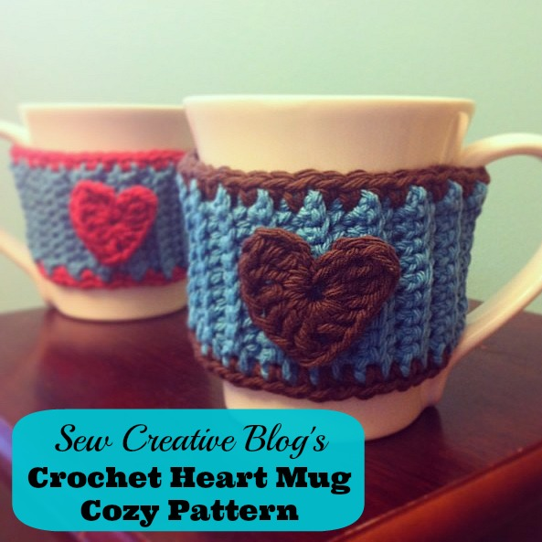 How to Crochet a Heart Mug Cozy Pattern Tutorial from Sew Creative 5