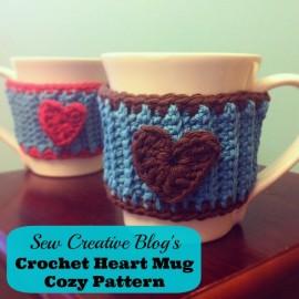 How to Crochet a Heart Mug Cozy Tutorial from Sew Creative 5
