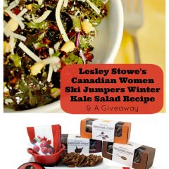 Lesley Stowe's Canadian Women Ski Jumpers Winter Kale Salad Recipe and a Giveaway