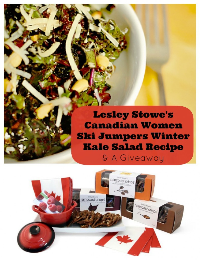 Lesley Stowe's Canadian Women Ski Jumpers Winter Kale Salad Recipe and a Giveaway on Sew Creative
