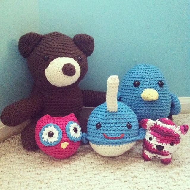 Sew Creative Amigurumi Family Photo