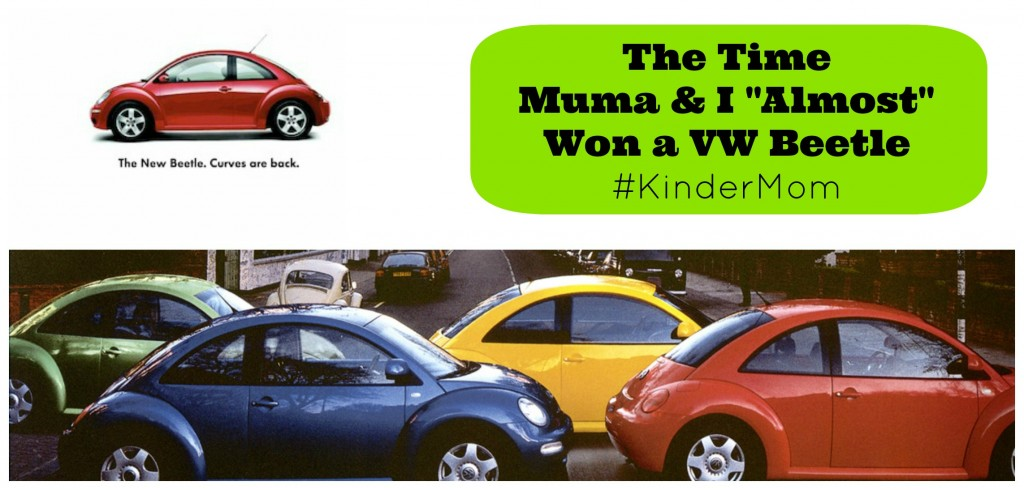 Sew Creative The Time Muma and I Almost Won a VW Beetle #KinderMom