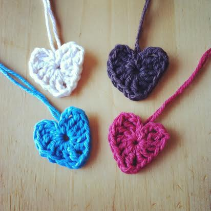 Super easy crochet hearts great for beginners