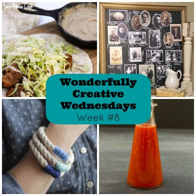 Wonderfully Creative Wednesday Link Party Week 8