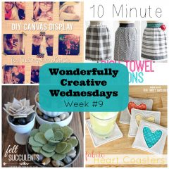 DIY, Craft and Recipe Link Party- Wonderfully Creative Wednesday Week 9