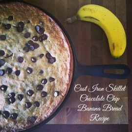Cast Iron Skillet Chocolate Chip Banana Bread Recipe from Hello Creative Family.jpg
