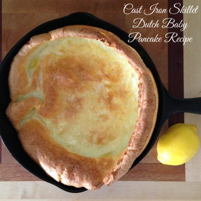 Cast Iron Skillet Dutch Baby Pancakes Recipe
