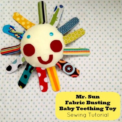 Mr. Sun Fabric Busting Baby Teething Toy Sewing Tutorial