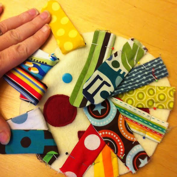Mr Sun Fabric Buster Baby Toy Tutorial step 5