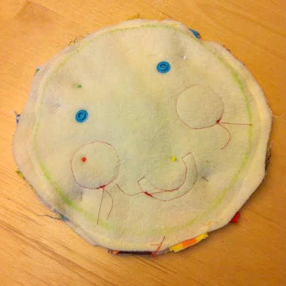 Mr Sun Fabric Buster Baby Toy Tutorial step 8