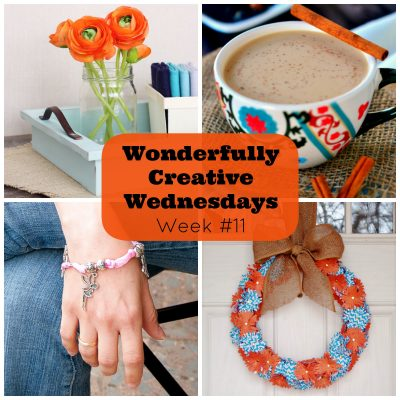Link up your DIY, Food and Craft Posts at Wonderfully Creative Wednesdays