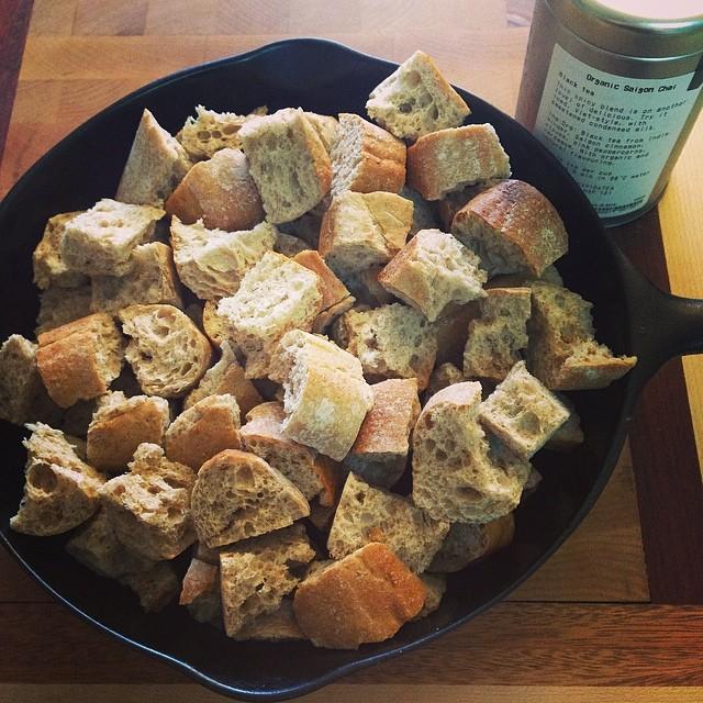 Chai Tea Bread Pudding Cubes