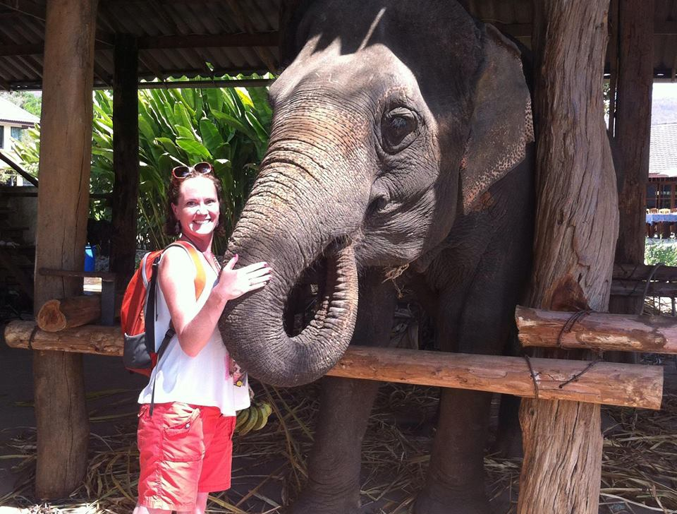 Danielle and the elephant