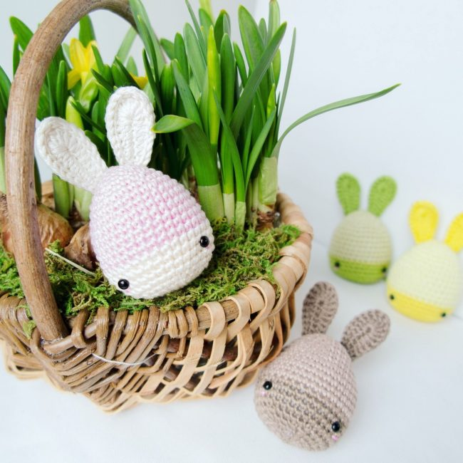 Adorable Spring and Easter Crochet Patterns Perfect For Easter Baskets: Easter Bunny Eggs Crochet Pattern from Lalylala Crochet