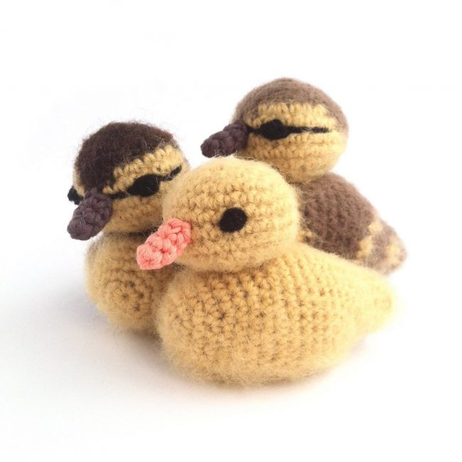 Adorable Spring and Easter Crochet Patterns Perfect For Easter Baskets: Fluffy Baby Ducklings Crochet Pattern from Little Conkers