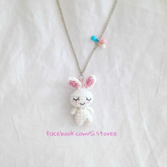 Adorable Spring and Easter Crochet Patterns Perfect For Easter Baskets: Sleeping Bunny Tiny Amigurumi Charm Pattern from Gstore Patterns