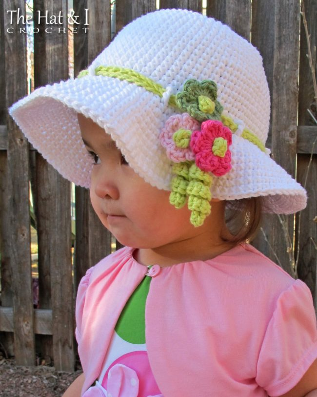 Adorable Spring and Easter Crochet Patterns Perfect For Easter Baskets: Spring Garden Hat Crochet Pattern from The Hat and I